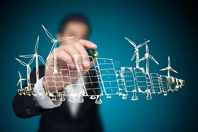 Energy project. royalty free stock photography