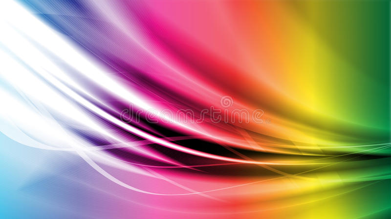 Energy pulsing flows vector illustration vector illustration