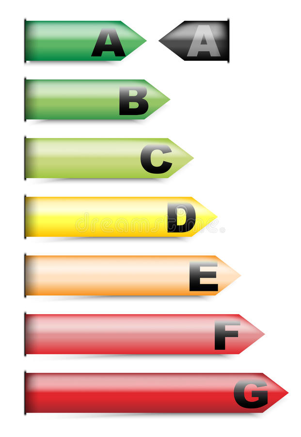 Energy Rating Graph Stock Photo