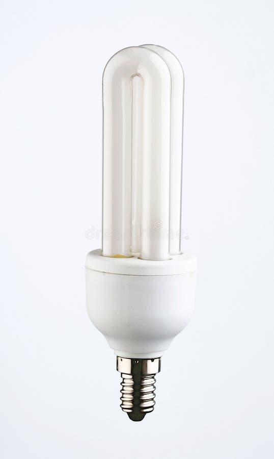 Energy saver light bulb on white background royalty free stock photography