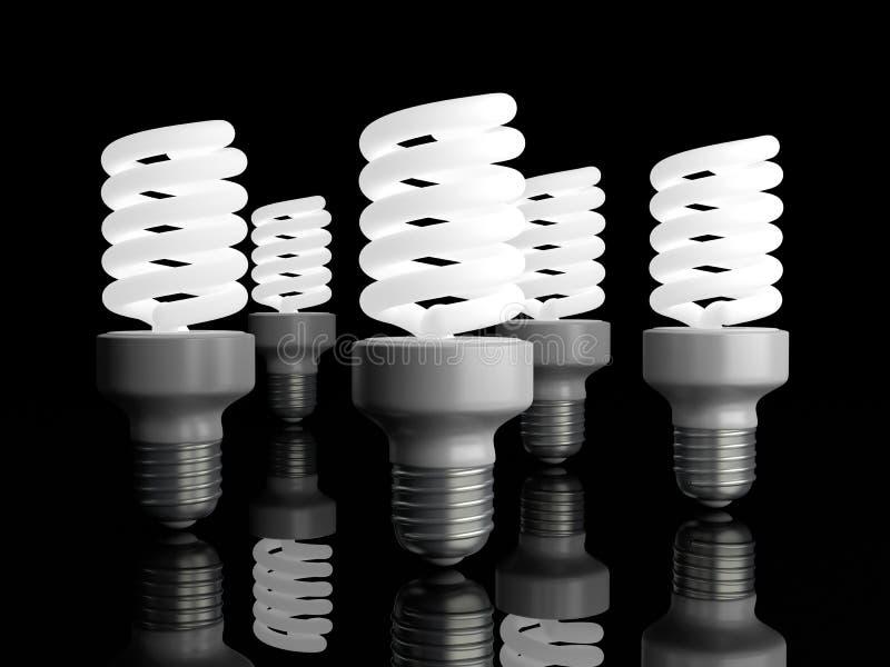 Energy Saver Light Bulbs Stock Images