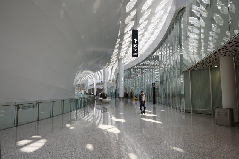 Energy saving building, Shenzhen international airport terminal royalty free stock photos
