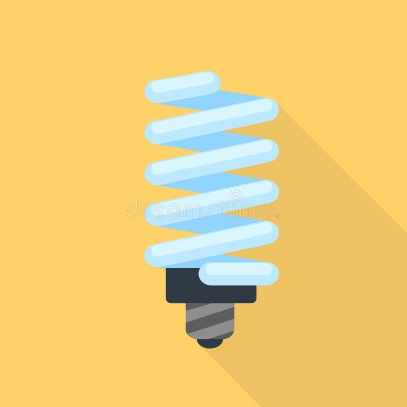 Energy saving bulb icon, flat style vector illustration