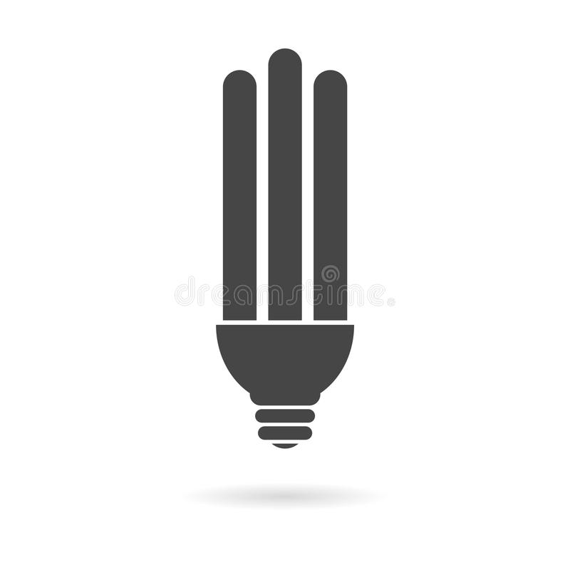 Energy saving bulb icon. Vector icon stock illustration