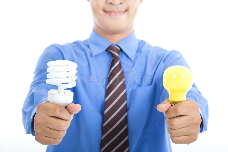 Download Energy Saving  Bulb And Tradition Bulb Stock Photo - Image of electric, innovation: 25222140