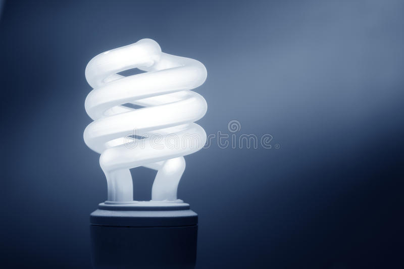 Energy Saving Compact Fluorescent Light Bulb royalty free stock images