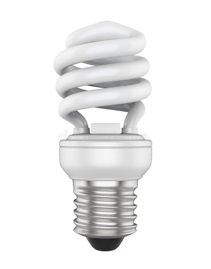 Energy Saving Compact Fluorescent Light Bulb Isolated stock illustration