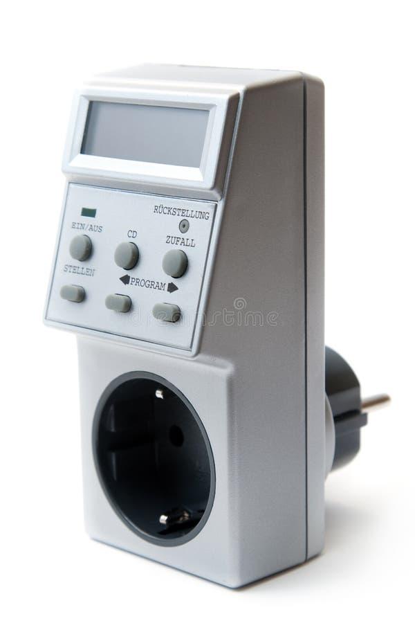 Energy-saving elektriciteitsLCD tijdopnemer. stock afbeeldingen