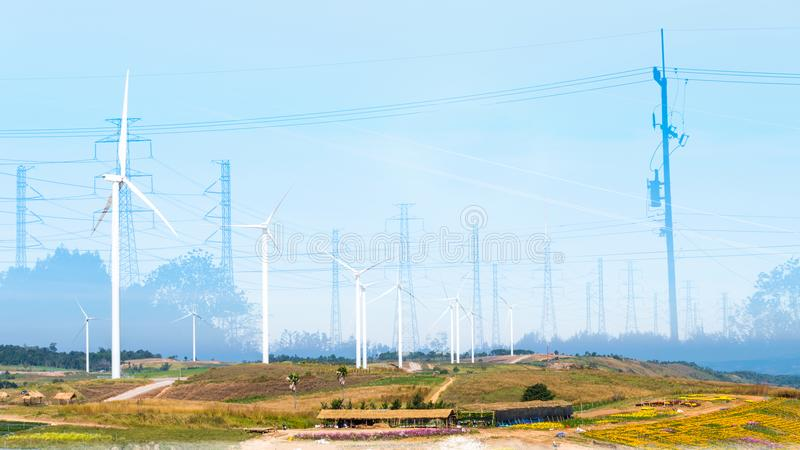 Energy saving With the environmentRenewable Energy royalty free stock image