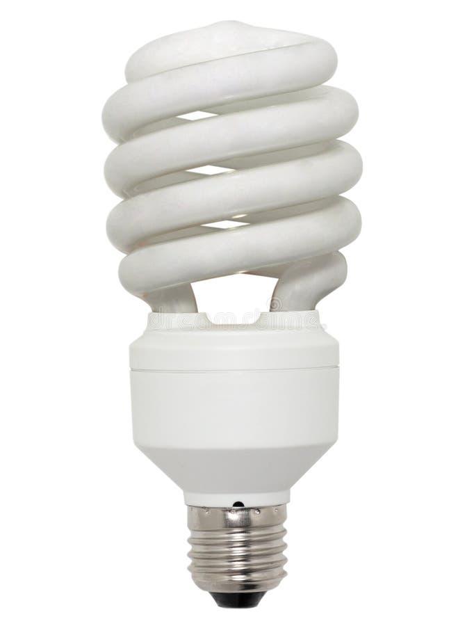 Energy saving fluorescent lamp. royalty free stock image