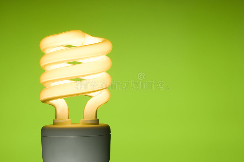 Download Energy Saving Fluorescent Light Bulb Stock Photography - Image: 6422332