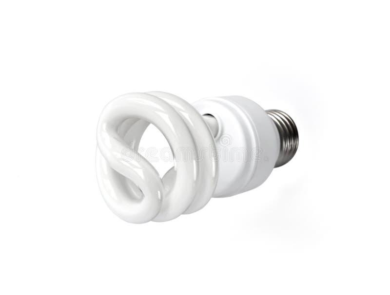 Energy saving fluorescent light bulb on white background isolated royalty free stock photos