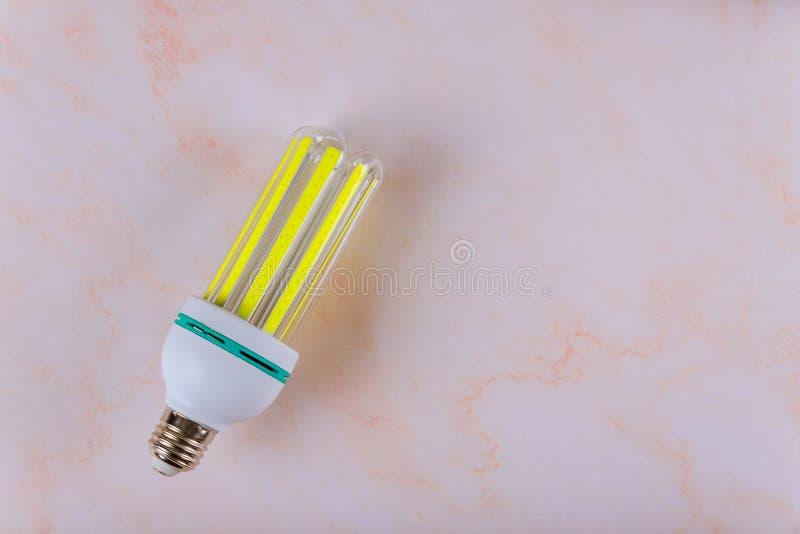 High power LED light bulb on a energy saving stock photography