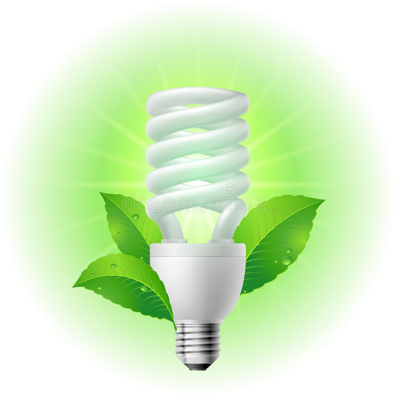 Energy saving lamp stock illustration