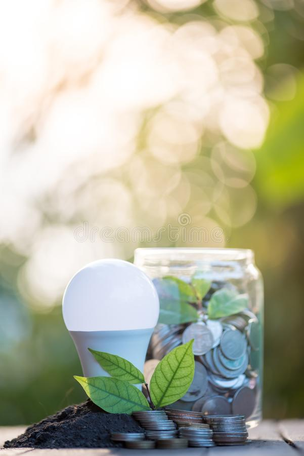 Energy saving lamp With the environment royalty free stock photos