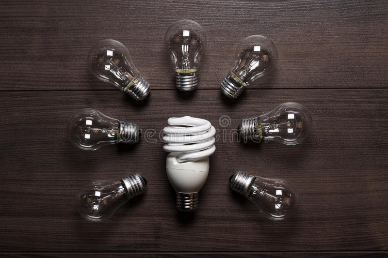 Download Energy Saving Lamp And Glow Lamps Stock Photography - Image: 28081362