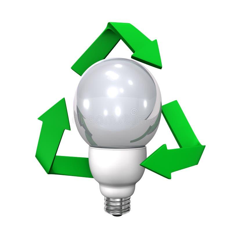 Bulb Recycling Symbol royalty free illustration