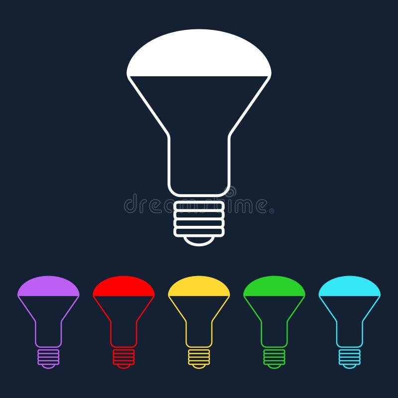 Energy saving LED lamp flat vector icon vector illustration