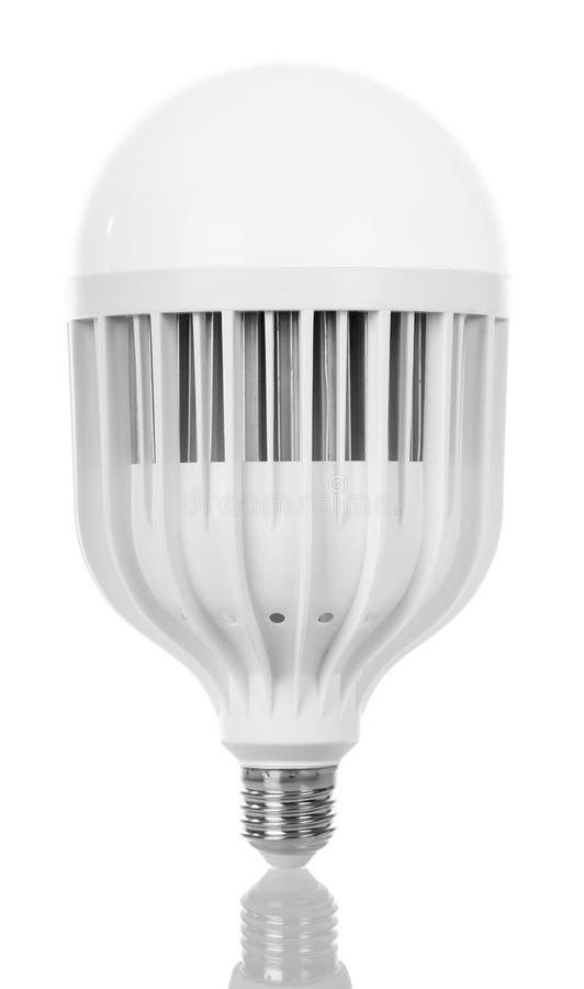 Energy-saving LED light bulb isolated on white. royalty free stock images
