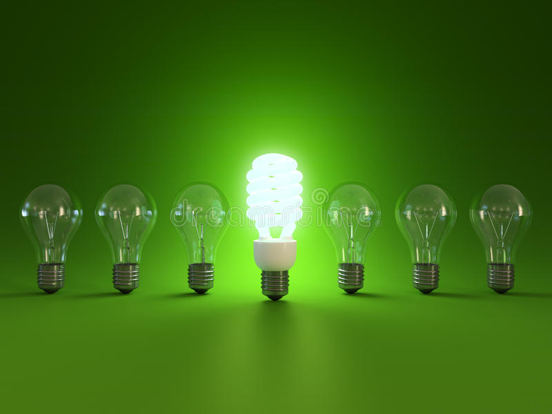 Energy saving light bulb vector illustration