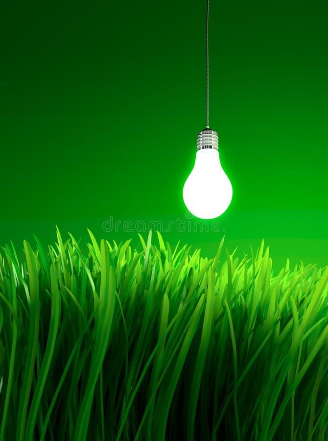 Energy saving light bulb royalty free illustration