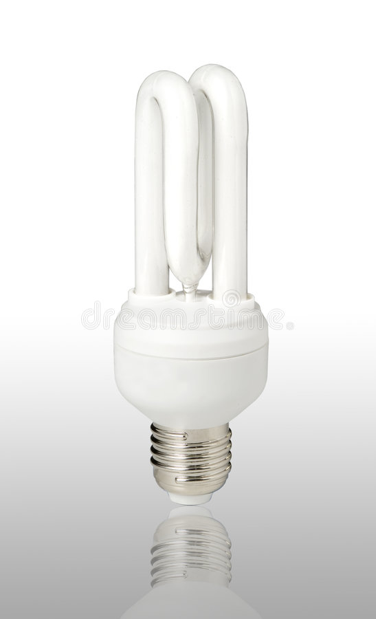 Energy saving light-bulb royalty free stock image