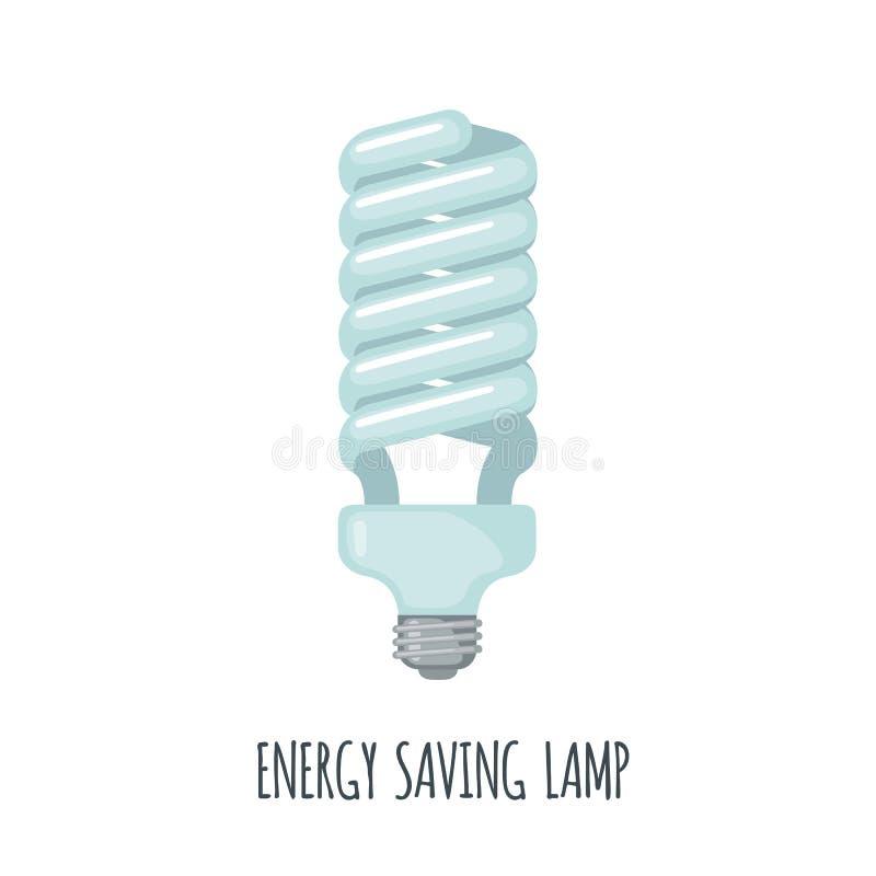 Energy saving Light Bulb Icon in flat style vector illustration