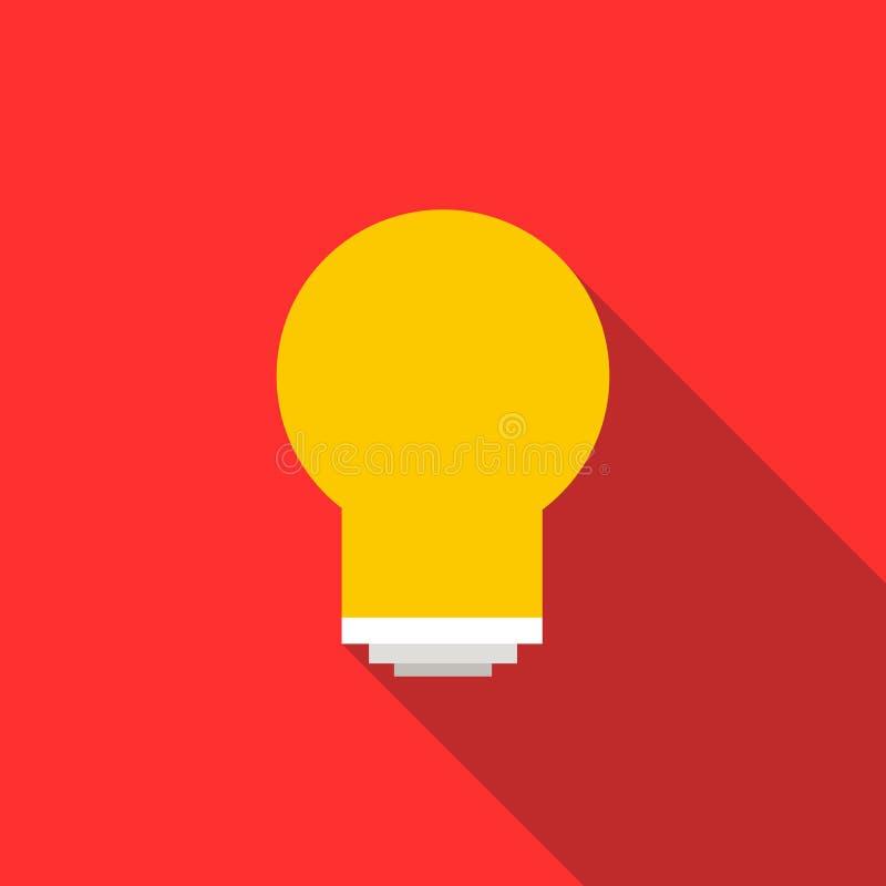 Energy saving light bulb icon, flat style vector illustration