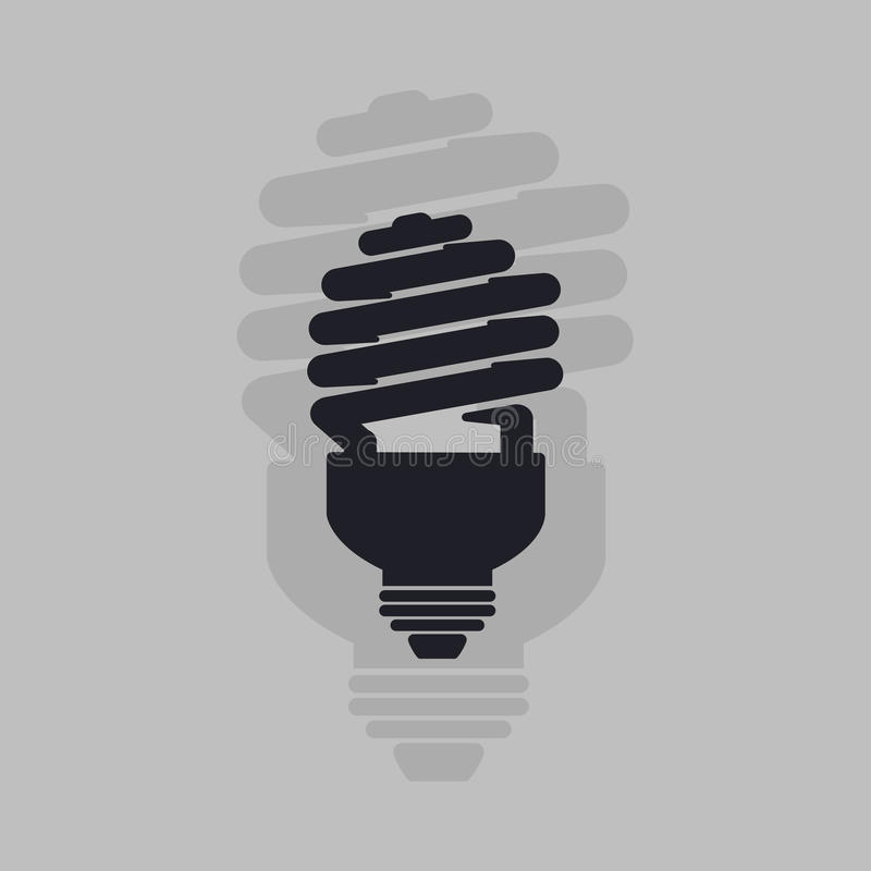 Energy saving light bulb icon . lamp icon vector. royalty free stock photo