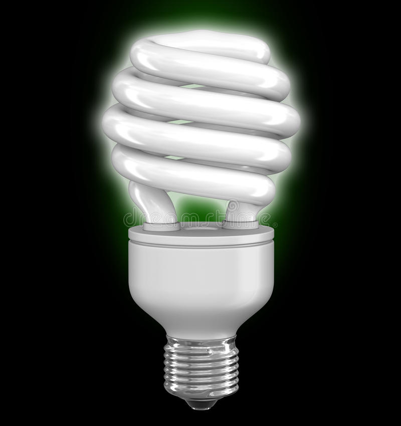 Energy Saving Light Bulb. Image with clipping path royalty free illustration