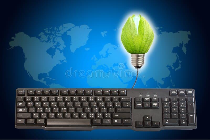 Energy saving light bulbs stock photography