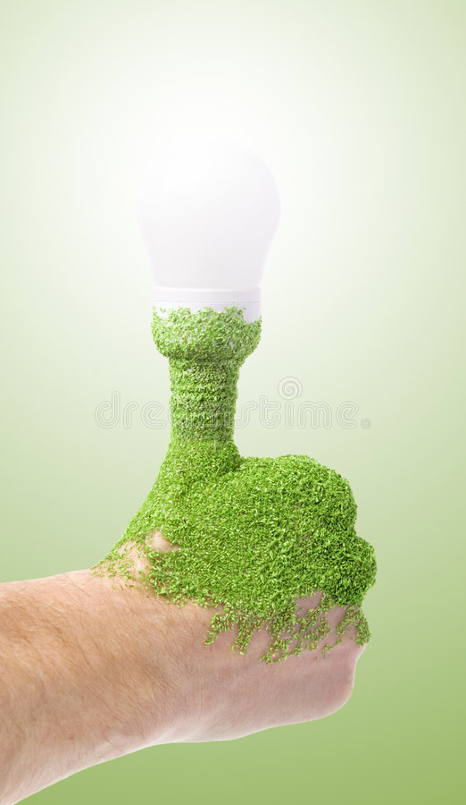 Energy saving lightbulb royalty free stock photo