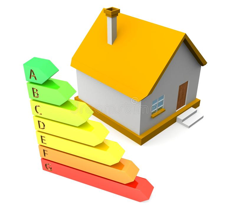 Energy saving, real estate and family home concept royalty free illustration