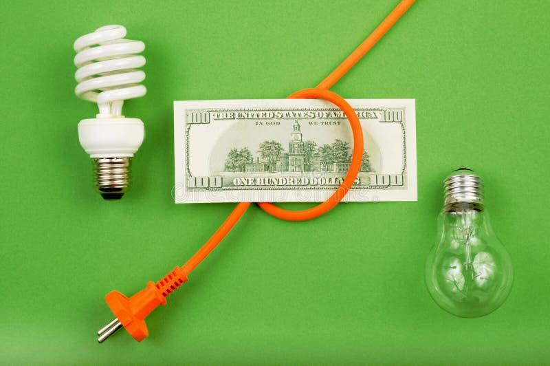 Energy savings. New technologies and energy savings royalty free stock image