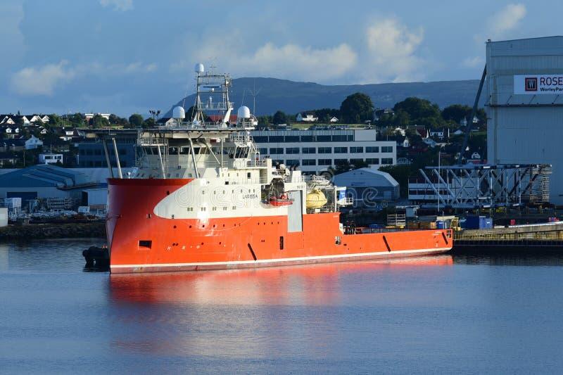 Energy Service Ship Larssa royalty free stock photography
