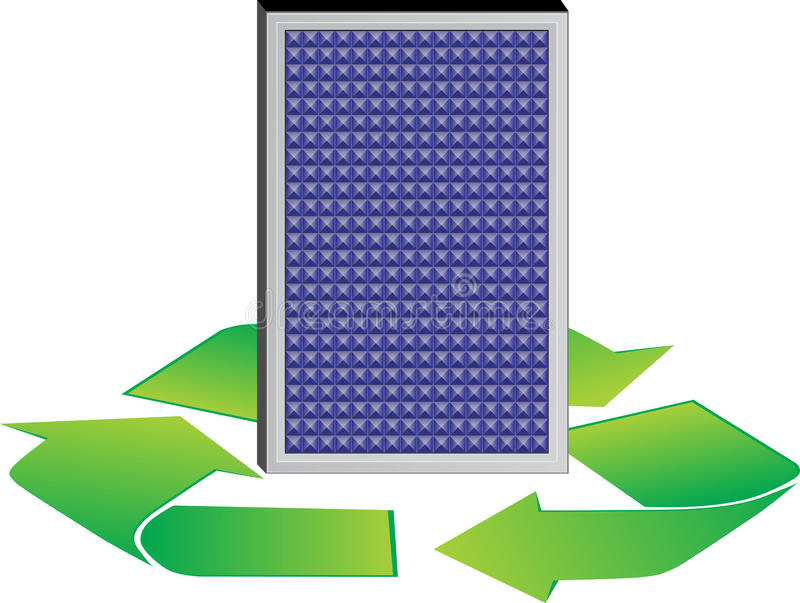 Download Energy solar stock vector. Image of panel, savings, energy - 20339626