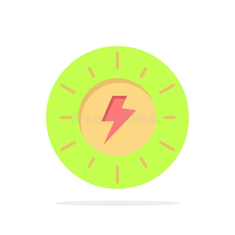 Energy, , Solar, Sun, Charge Abstract Circle Background Flat color Icon vector illustration