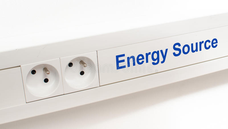 Energy source. Imaged by an electrical outlet royalty free stock photography
