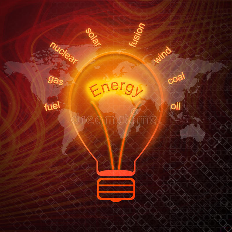 Download Energy sources in bulbs stock illustration. Illustration of chalk - 26281907