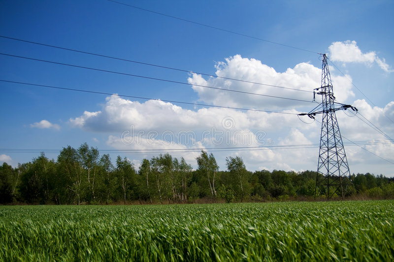 Download Energy transmission lines stock image. Image of electrical - 3959781