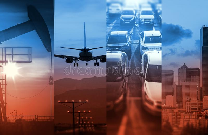 Energy and Transportation stock images