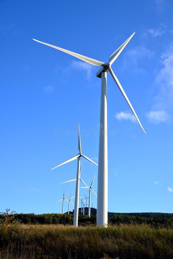 Energy Wind Turbine Farm with Windmill Turbines stock photography