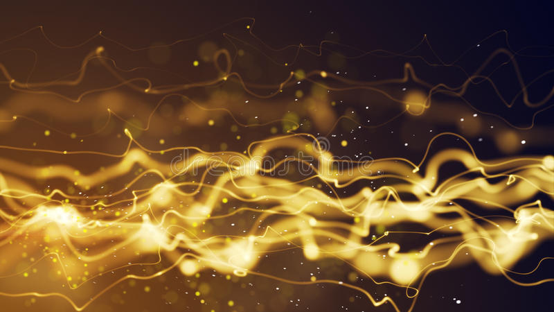 Energy yellow flow abstract background. Energy yellow flow. computer generated abstract background stock illustration