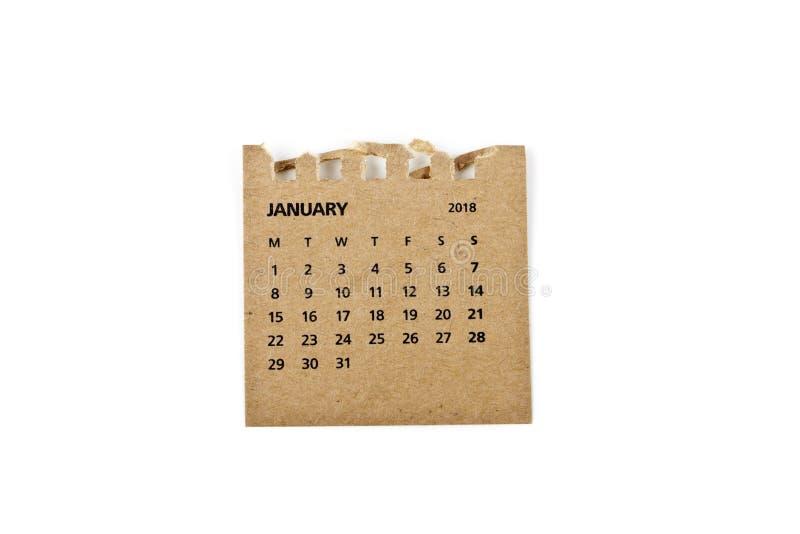 enero Hoja del calendario en blanco foto de archivo