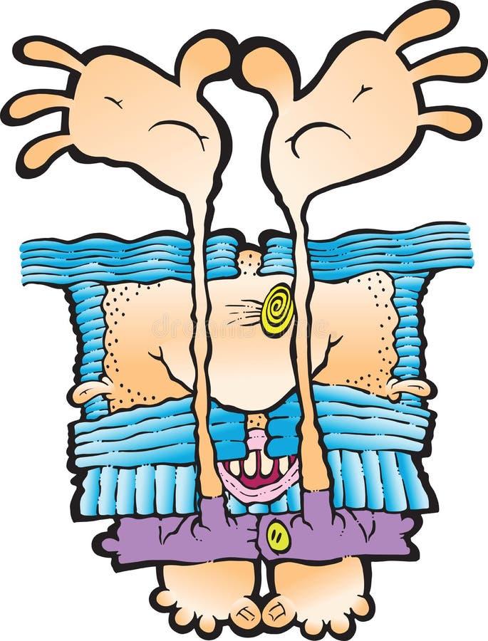 Enfaldig hippie stock illustrationer
