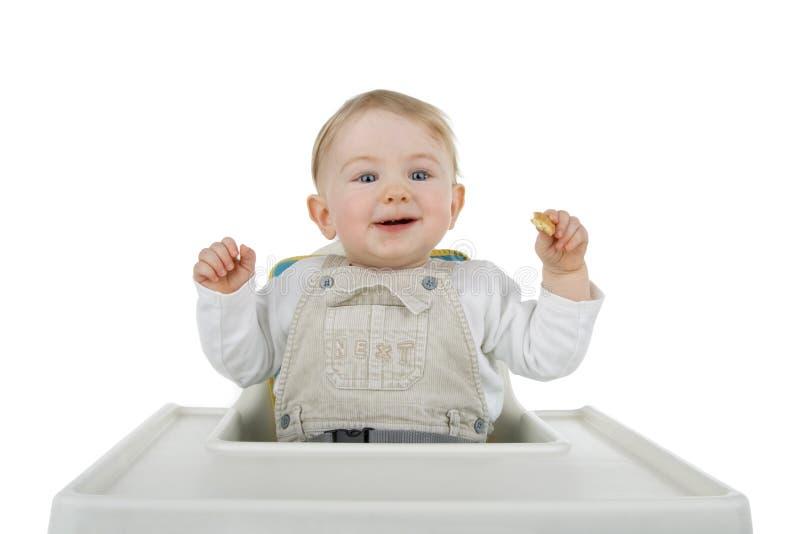 Enfant à la nourriture. image libre de droits