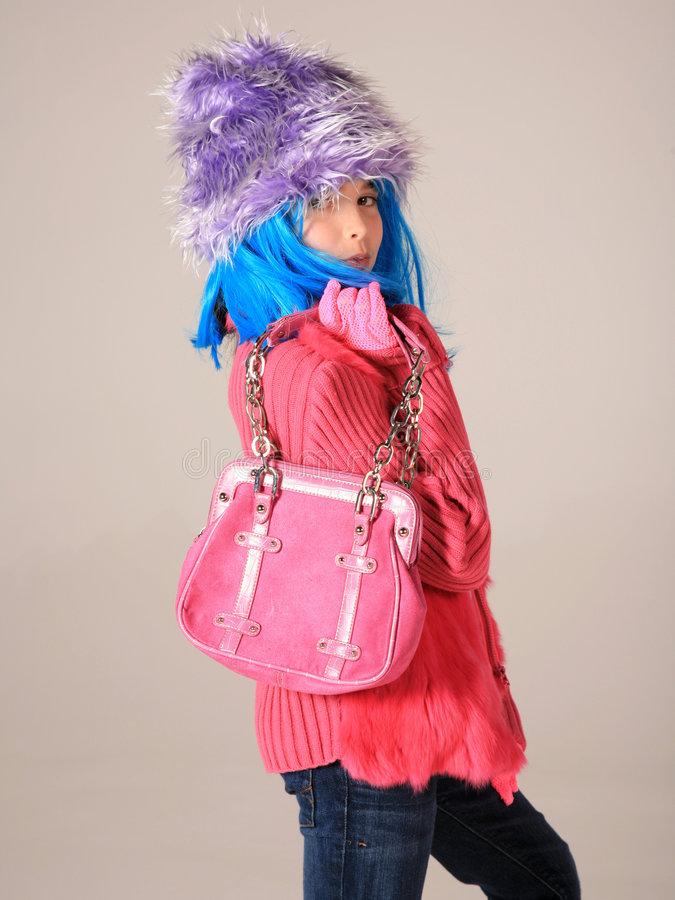 Enfant étrange de mode photographie stock