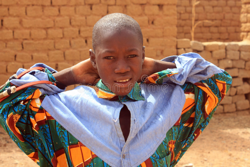 enfant africain photographie stock libre de droits
