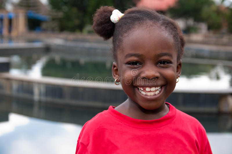 Enfant africain de sourire photos libres de droits