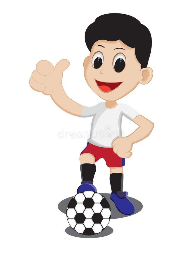 Enfant avec du ballon de football photos libres de droits